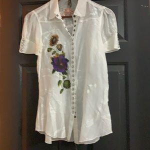 Stetson Short Sleeve Pearl Snap Embroidery Shirt